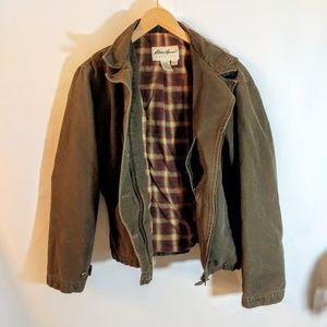 Eddie Bauer Warm Heavy Cotton Jacket Green